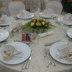 Sala il gelsomino apparecchiata per il matrimonio