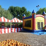 Carnival Booths and Moon Bounce: Some of the many spectacular things available to enhance events