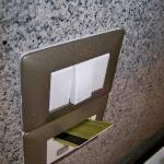 Weird set-up for using the electricity in the room: put in your key card before it works.