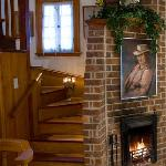 Carriage House:  On the to the second floor bedroom featuring cathedral ceiling, gas fireplace a