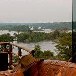 View from the Reception at Chobe Lodge Uganda