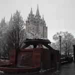 snowy morning and the Tabernacle