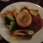 Roast beef dinner for Sunday lunch.