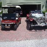 our car and golf cart