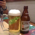 Perfect pour on a beer