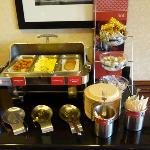 Hampton Inn Breakfast Hot Buffet