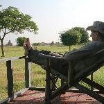 back porch on Kumudara villa/cabins.