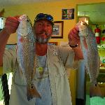 Lee Be Fish staff about to fillet our redfish