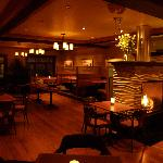 Comfortable Dining by our Fireplace