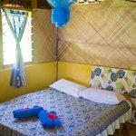 Double bedroom of original hut
