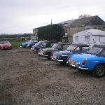Vintage car clubs, MG Club pictured, come for a meal and get together.