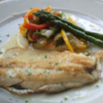 Filet of Sole lunch plate