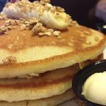 bananna granola pancake
