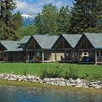 Pretty cabins all in a row