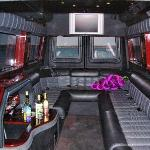 Inside of the Limo Coach