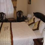 Our room with double bed