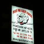 Dixie Pig sign at night