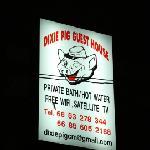 Dixie Pig sign at night