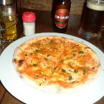 Seafood Pizza with Club Colombia