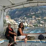 On board our personal boat trip (looking back to Positano)