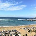 Udsigt over stranden i Las Palmas