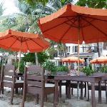 Der Outdoor Restaurantbereich