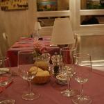 La bellissima tavola rosa!