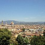 Vue de Florence depuis le jardin de boboli