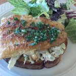 Open face catfish sandwich