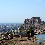 The White Palace with Fort Mehrangarh in the background