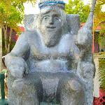 Sea King Statue. Fun for Photos!