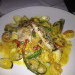 seafood pasta with Safron sauce