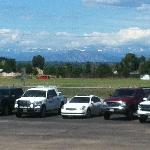 Not from the hotel property, but the Rockies are in view from the parking lot and some rooms.
