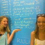 Chloe & Maisy - regular putters with the under 12's course record