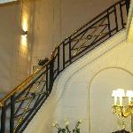 Internal staircase up to the cafe and the rooms on the 1st floor.
