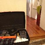 living out of a suitcase for a week