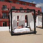 Private Hotel Cabanas on the beach