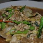 Chicken w/ basil sauce