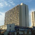 View of the hotel from the beach