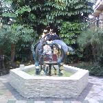 Fountain by the office of hotel