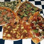 Assorted pizzas