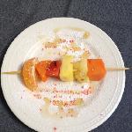 fruit skewer to close breakfast