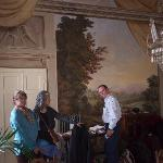 Beautiful frescoes in the parlor