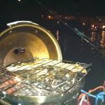Ventotene di notte con grigliata di pesce
