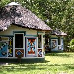 Traditional Ndebele Hand Painted Rooms