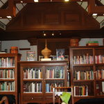 the library at Dhara Dhevi