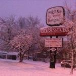 hotel sous la neige