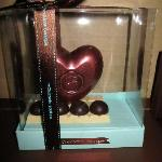 the chocolate heart they sent