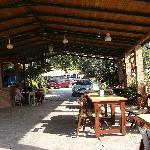 The open air part of the restaurant