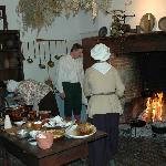 Warm Hearth Club members in the mansion kitchen.